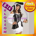 BC10 Ladies Pirate Fancy Dress Halloween Costume & Hat