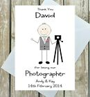 WEDDING PHOTOGRAPHER CARD PERSONALISED THANK YOU MULTI HAND MADE CUSTOM A5