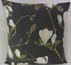 CUSHION COVERS SLATE GREY WHITE STONE FLOWERED PILLOW SINGLE