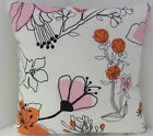 NEW CUSHION COVERS ORANGE PINK FLOWER IKEA PATTERN