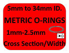 METRIC RUBBER O-RINGS ALL SIZES PAINTBALL 1.5mm 2mm 2.5