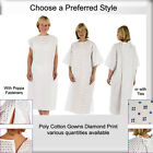 Hospital Patient Gown Cotton Poppa Fasteners FREE P&P