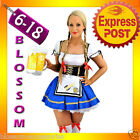 E41 Ladies Beer Maid Wench German Heidi Oktoberfest Gretchen Costume Outfit