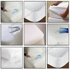 TERRY TOWEL WATERPROOF MATTRESS PROTECTOR  FITTED COVER COT SINGLE DOUBLE KING