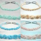 FLOWER CHIFFON HEADWRAP ELASTIC HEADBAND HAIR BAND ACCESSORY STRETCH CROCHET