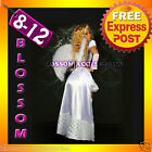 E75 Ladies Halloween White Good Angel Long Gown Fancy Dress Costume + Wings