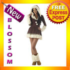C313 Sexy Eskimo Kisses Polar Princess Fancy Dress Winter Ladies Adult Costume