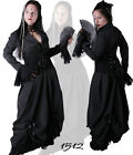 Gothic Vampire Vintage Cocktail Long Dress Victorian  Prom 2 Sizes Black