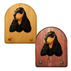 English Cocker Spaniel Wood Carved Dog Key Leash Holder. Home Decor Dog Products