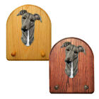 Greyhound Wood Carved Dog Figure Key Leash Holder. Home Decor Dog Products.