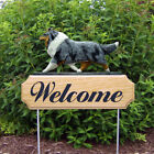 Collie Welcome Sign Stake. Home, Yard & Garden Decor. Dog Wood Product & Gifts.