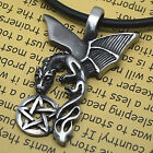 FLYING DRAGON MAGIC Merlin PENTACLE STAR Pewter Pendant Pentagram Anhänger