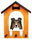 Shetland Sheepdog Dog House Leash Holder. In Home Wall Decor Products & Gifts.