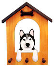 Siberian Husky Dog House Leash Holder. In Home Wall Decor Products & Gifts.