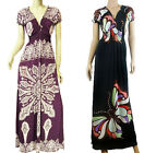 New Classic Country Style V Neck Summer Beach Maxi Dress