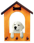 Kuvasz Dog House Leash Holder. In Home Wall Decor Wood Products & Dog Pet Gifts.