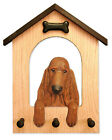 Irish Setter Dog House Leash Holder.In Home Wall Decor Wood Products & Dog Gifts