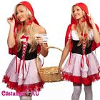 Ladies Little Red Riding Hood Costume Fancy Dress Halloween Hens Party Outfit