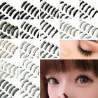 10 Pairs Handmade Natural Fake False Eyelashes Eye Lashes Jet Black 17 styles