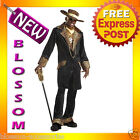 C35 Men Pimp Black Supa Mac Big Daddy Adult Fancy Halloween Costume M L XL