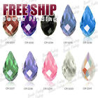 10pcs 12x6mm Teardrop pendant cheaper Crystal beads wholesale Choose FREE SHIP