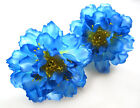 "2X Artificial Silk Peony Flower Heads 4"" for Home Wedding decoration Hair Clip"