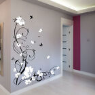 Large Flower Butterfly Vine Wall Stickers / Wall Decals EXTRA LARGE