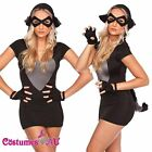 Ladies Cheshire Cat Costume Alice In Wonderland Fancy Dress Up Party Club Outfit