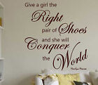 MARILYN MONROE Right Shoes  wall quote  MURAL  WALL ART STICKER  XXXL size  N46