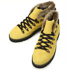 New Leather Winter Snow Casual Athletic Warm Womens Ankle Boots Yellow