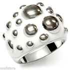 No Stone White & Bubble Silver Stainless Steel Ladies Cocktail Ring New