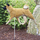 Akita Dog Figure Garden Stake. Home Yard & Garden Dog Breed Products & Gifts.