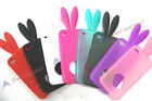NEW Rabbit Bunny Ears Tail Silicone Bumper Soft Cute Case Cover for Iphone 4 4G