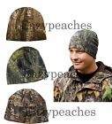 MOSSY OAK Break Up, Oilfield, or Realtree Xtra Unisex Hunting CAMO FLEECE Beanie