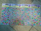 Crystal stickers-heart/smiley face/butterfly/alphabet ideal card making FREE P&P