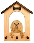 Lowchen Dog House Leash Holder. In Home Wall Decor Wood Products & Dog Gifts.