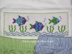 NEW VIVE LA FETE Boys Girls 6 Smocked s/s Tee shirt Purple Blue FISHES FISH