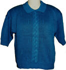 New 'Via Maglia' Women's Short Sleeves Sweater-Royal Blue Size: S M L