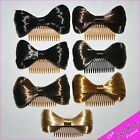 SYNTHETIC HAIR BOW COMB - Immitation Fake Hair Accessories - Lady GaGa - NEW