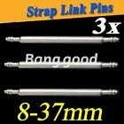 8- 37mm Double Flange 3X Watch Band Stainless Steel Spring Bars Strap Link Pins