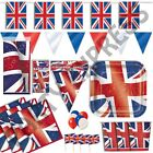 ROYAL STREET PARTY BRITISH JUBILEE NAPKINS PLATES TABLE CLOTHS BUNTING BALLOONS