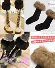Ladies Vintage Fashion Japan Long Winter Fur Cotton Ankle Socks Multi Colors New