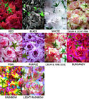 "12X BIG Roses Artificial Silk Flower Heads Lot 3.75"" wholesale lots for Wedding"
