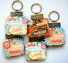 """""""WORLD ACCORDING TO"""" PERSONALISED KEYRING BOOKS - NAMES D"""