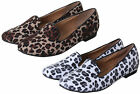 NEW WOMEN'S CASUAL DALMATION/LEOPARD PRINT LOAFERS/MOCASSINS/SLIP-ONS IN UK 3-8