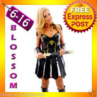 F77 Xena Gladiator Warrior Princess Roman Spartan Fancy Dress Costume & Cape