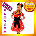 F89 Ladies Minnie Mickey Mouse Fancy Dress Halloween Disney Theme Costume & Ears