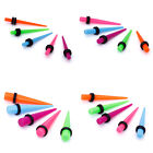 5x Colorful Ear Stretcher Expander Taper Plug Earring Stretching Pick U Size New