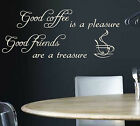 WALL QUOTE STICKER GOOD COFFEE KITCHEN WALL ART / WALL STICKER / WALL ART / N72