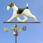 Fox Terrier (Wire) Hand Carved Weathervane. Home,Yard,Barn-Roof Dog Products.